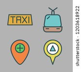town icon set. vector set about ... | Shutterstock .eps vector #1203618922