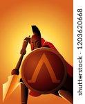 vector illustration of spartan... | Shutterstock .eps vector #1203620668