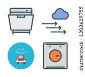 washer icon set. vector set... | Shutterstock .eps vector #1203629755