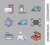 shipment icon set. vector set...   Shutterstock .eps vector #1203633445