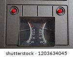 analogue level indicator on a... | Shutterstock . vector #1203634045