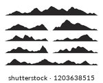 mountains silhouettes on the... | Shutterstock .eps vector #1203638515