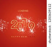 happy new year 2019 loading... | Shutterstock .eps vector #1203639112