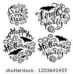 set of handlettering phrases... | Shutterstock . vector #1203641455