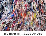 textile waste a major polluter... | Shutterstock . vector #1203644068