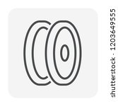 car wheel icon  64x64 perfect... | Shutterstock .eps vector #1203649555