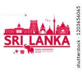 sri lanka travel destination... | Shutterstock .eps vector #1203656065