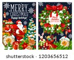 merry christmas holiday... | Shutterstock .eps vector #1203656512