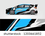 sport car racing wrap design.... | Shutterstock .eps vector #1203661852