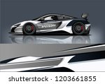 sport car racing wrap design.... | Shutterstock .eps vector #1203661855
