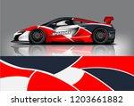 sport car racing wrap design.... | Shutterstock .eps vector #1203661882