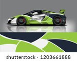 sport car racing wrap design.... | Shutterstock .eps vector #1203661888