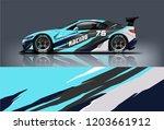 sport car racing wrap design.... | Shutterstock .eps vector #1203661912