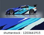 sport car racing wrap design.... | Shutterstock .eps vector #1203661915