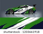 sport car racing wrap design.... | Shutterstock .eps vector #1203661918