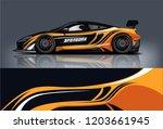 sport car racing wrap design.... | Shutterstock .eps vector #1203661945