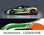 sport car racing wrap design.... | Shutterstock .eps vector #1203661948