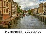 strasbourg. houses on the river. | Shutterstock . vector #120366406