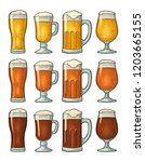 four different glasses with... | Shutterstock .eps vector #1203665155