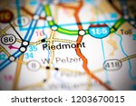 piedmont. augusta. usa on a map | Shutterstock . vector #1203670015
