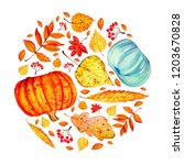 different colorful autumn...   Shutterstock . vector #1203670828