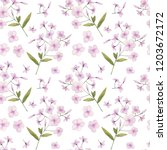 seamless pattern with delicate... | Shutterstock . vector #1203672172