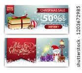 christmas banner template with... | Shutterstock .eps vector #1203672985