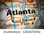 atlanta. georgia. usa on a map | Shutterstock . vector #1203673342