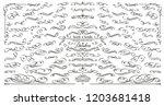 vector flourishes. swirl ... | Shutterstock .eps vector #1203681418