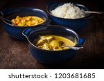 creamy indian food lamb rogan... | Shutterstock . vector #1203681685