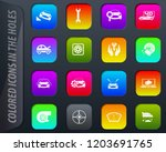 car shop colored icons in the... | Shutterstock .eps vector #1203691765