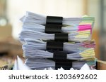 important documents placed on a ...   Shutterstock . vector #1203692602