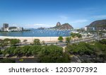 aerial view of botafogo ...   Shutterstock . vector #1203707392
