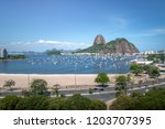 aerial view of botafogo ...   Shutterstock . vector #1203707395