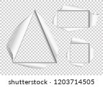 hole in the paper. set of cut... | Shutterstock .eps vector #1203714505