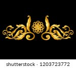 gold baroque frame scroll on... | Shutterstock .eps vector #1203723772