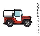 coffee car transportation icon | Shutterstock .eps vector #1203738865