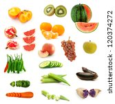 collection of isolated fruits... | Shutterstock . vector #120374272