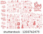 amazing doodle icons collection.... | Shutterstock .eps vector #1203762475