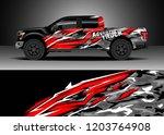 pick up truck decal design... | Shutterstock .eps vector #1203764908