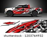 pick up truck decal design... | Shutterstock .eps vector #1203764932