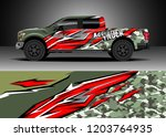 pick up truck decal design... | Shutterstock .eps vector #1203764935