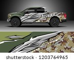 pick up truck decal design... | Shutterstock .eps vector #1203764965