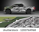 pick up truck decal design... | Shutterstock .eps vector #1203764968