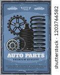 car service  auto shop of spare ... | Shutterstock .eps vector #1203766582