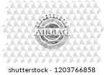 airbag grey emblem. retro with... | Shutterstock .eps vector #1203766858