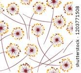dandelion blowing plant vector...   Shutterstock .eps vector #1203771508