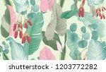 tropical plants seamless... | Shutterstock .eps vector #1203772282