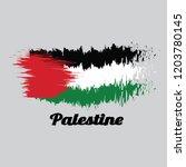 brush style color flag of... | Shutterstock .eps vector #1203780145