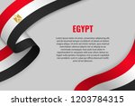 waving ribbon or banner with... | Shutterstock .eps vector #1203784315